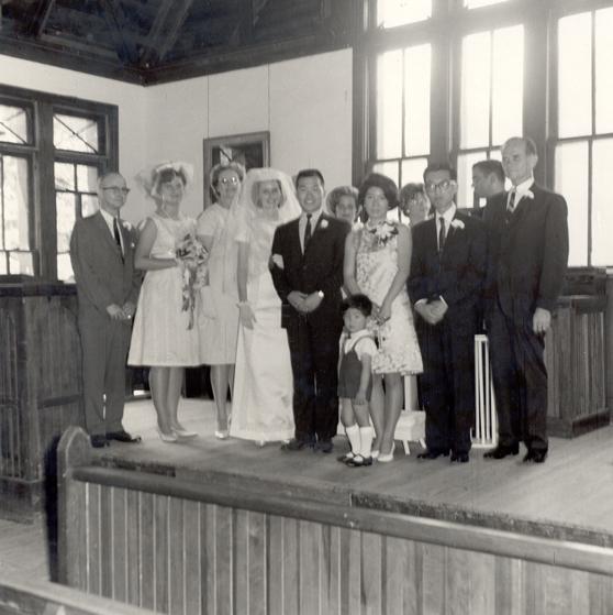 Wedding photo at Barnwell Chapel