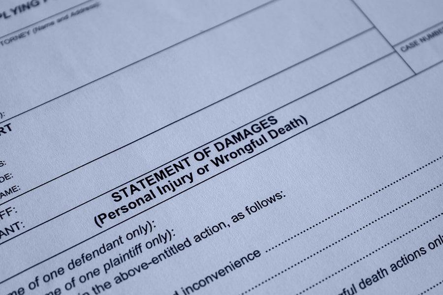 Personal injury or wrongful death paperwork